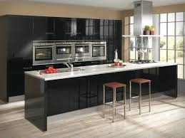 Interior Design In Kitchen by Furniture Black Modern Kitchen Cabinets With White Countertop