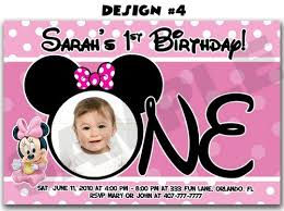 minnie mouse birthday invitations personalized minnie mouse