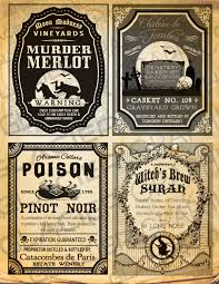 Free Printable Halloween Potion Labels by Vintage Halloween Witch Wine Labels Halloween Wine Bottle Labels