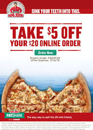 California Pizza Kitchen Coupon Code by Pinned July 13th 5 Off 20 Today At Papajohns Pizza Via Promo