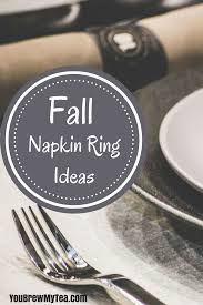 thanksgiving napkin rings craft easy crafts archives