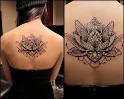 Buddhist Flower Tattoo - dotwork by kel tait melbourne australia lotus flower tattoos