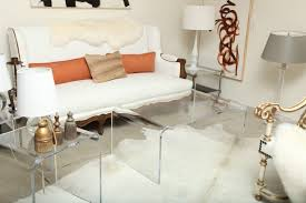 coffee tables beautiful rectangle contemporary clear acrylic