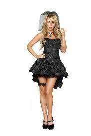 Black Widow Halloween Costumes Black 4pc Black Widow Bride Amiclubwear Costume Store