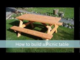 Free Plans For Round Wood Picnic Table by How To Build A Picnic Table A Step By Step Guide Youtube