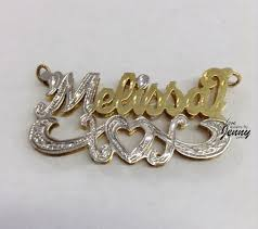 Name Chains Gold 14k Gp U0026 Silver 3 D Name Plate Free Necklace Style 12 Gold Name