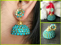 how to make jhumka earrings designer bridal silk thread jhumkas with make at home