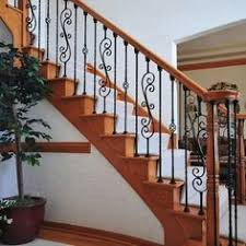 Baluster Design Ideas Wood And Rod Iron Staircase Wrought Iron Baluster Upgrade