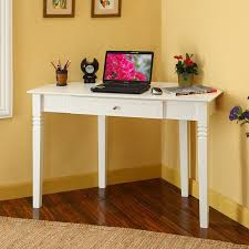 corner white computer desk small computer table desk writing laptop and for bedroom home