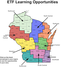 Map Of Wisconsin by Etf Wisconsin Presentation Map