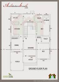 3 bhk single floor house plan house plan architecture kerala 3 bhk single floor kerala house