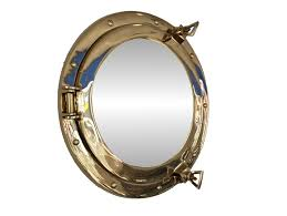 Nautical Wall Mirrors Amazon Com Brass Porthole Mirror 12