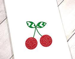 cherry kitchen etsy