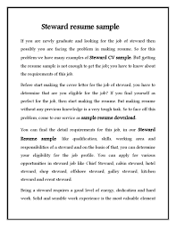 hotel job resume sample hotel steward cv resume sample free download vinodomia hotel steward cv resume sample free download
