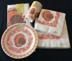 vintage paper tablecloth and paper napkins by chicevintage on etsy