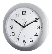 Wall Watch by Acctim 74367 Peron Radio Controlled Wall Clock Silver Amazon Co