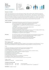 office administrator sample resume receptionist office admin