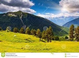 Caucasus Mountains On World Map by Mountain Landscape Stock Image Image 34979091