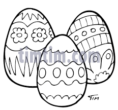 Decorate Easter Eggs Crossword by Free Drawing Of Decorated Easter Eggs 1bw From The Category