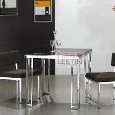 small stainless steel kitchen table leetin minimalist modern stainless steel furniture creative