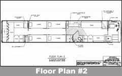 bus floor plans russell coach conversions entertainer floor plans