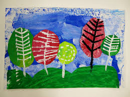 cassie stephens in the art room first grade landscapes