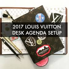 Desk Agenda 2017 Louis Vuitton Desk Agenda Set Up Universal Year 1
