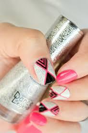 geometric nail art with textured nail polish tutorial
