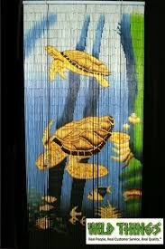 Painted Bamboo Curtains Sea Turtles Painted Bamboo Curtain Shopwildthings