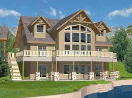 Lake House Plans Walkout Basement Purcell Lake Rustic Home Plan 088d 0259 House Plans And More