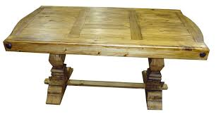 Mexican Dining Room Furniture by Rustic Pine Dining Table Bench Video And Photos Madlonsbigbear Com