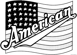 American Flag Awesome Best American Flag Coloring Page Artsybarksy