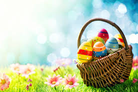 easter egg basket easter basket of eggs top quality wallpapers