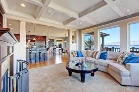 Cozy Livingroom Luxury House With Open Floor Plan Cozy Living Room In Light