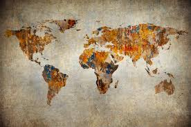 best wallscapes artistic map of the world picture of artistic map of the world