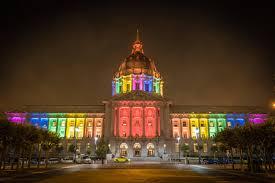 sf city hall lights city hall lights up for pride funcheapsf com