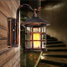 retro outdoor light fixtures new american country style outdoor wall sconce l retro luminaria