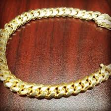 cuban chain link bracelet images 7 quot gold finish silver miami cuban link bracelet 10mm 51 grams jpg
