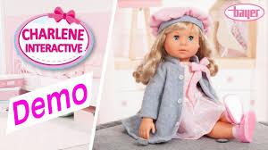 bayer design puppe charlene interactive puppe doll demo bayer design i