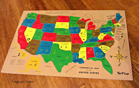 us map puzzle wood vintage wood puzzle organized clutter