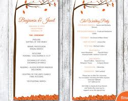 fall wedding programs autumn leaves wedding song request card by smatsprintablecafe