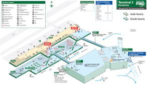 msp airport terminal map minneapolis st paul airport map my