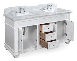 60 Inch Bathroom Vanity Elizabeth 60 Inch Double Bathroom Vanity Carrara White Includes