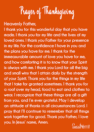 prayer of thanksgiving simple prayers and trust god