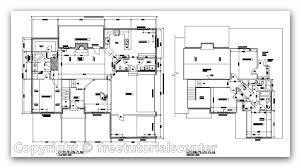 autocad complete house plan house design plans