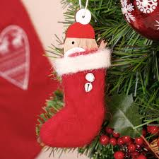 chibi robin in red stocking christmas tree decoration by dibor