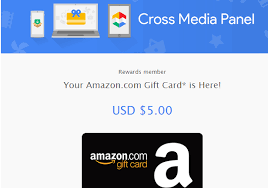 earn gift cards instant 5 gift card from cross media panel previously