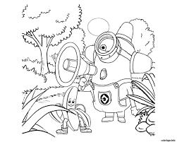 coloriage minions dessin à imprimer gratuit