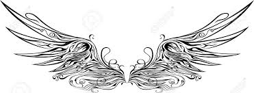 illustration of wings ornaments royalty free cliparts vectors