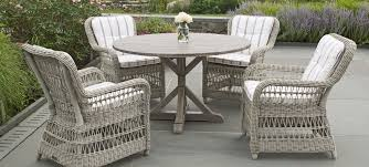 kingsley bate all weather synthetic wicker dining arm and side